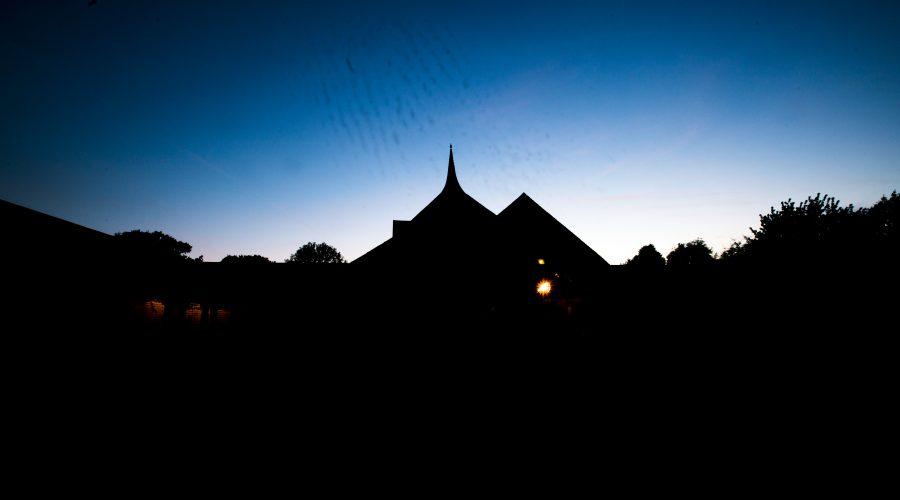 Amaravati Tempel im Morgengrauen