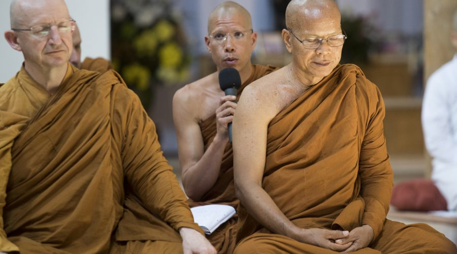 Ajahn Siripannyo translating