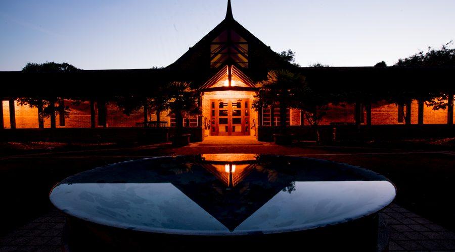 Amaravati temple after sunrise