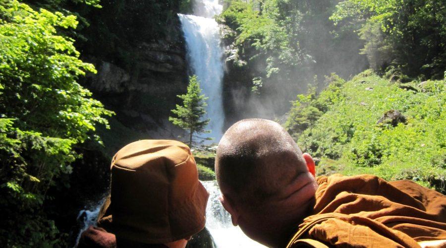 Blick auf Wasserfälle