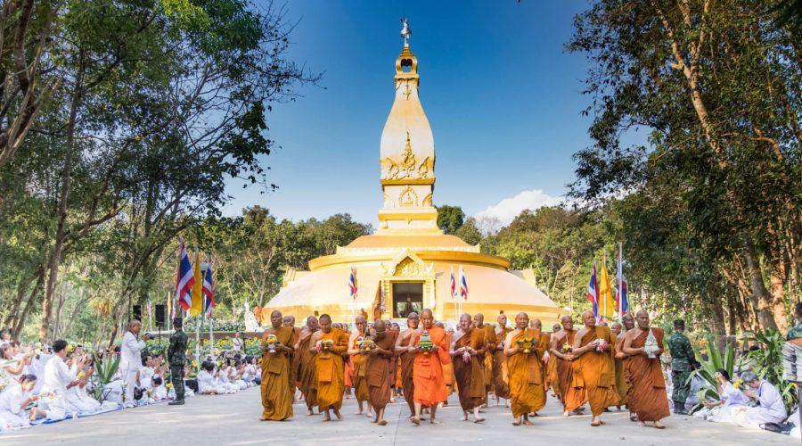 bhikkhu procession