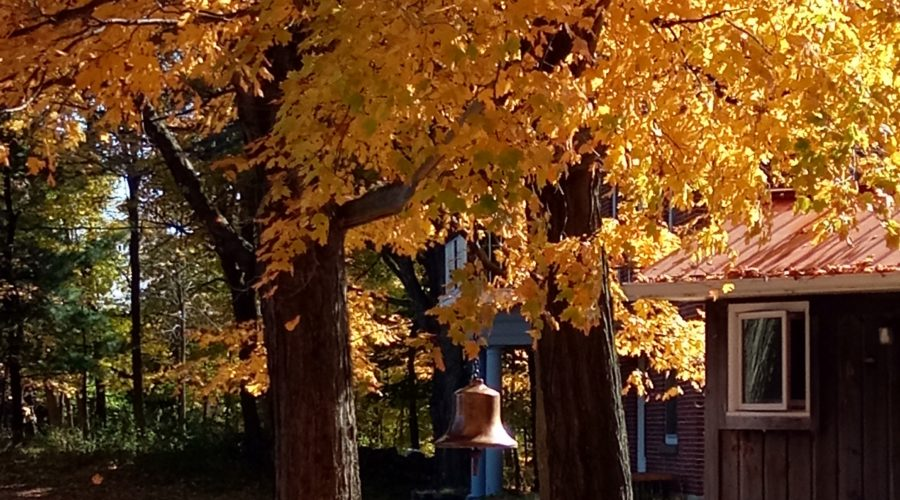 bell in autumn